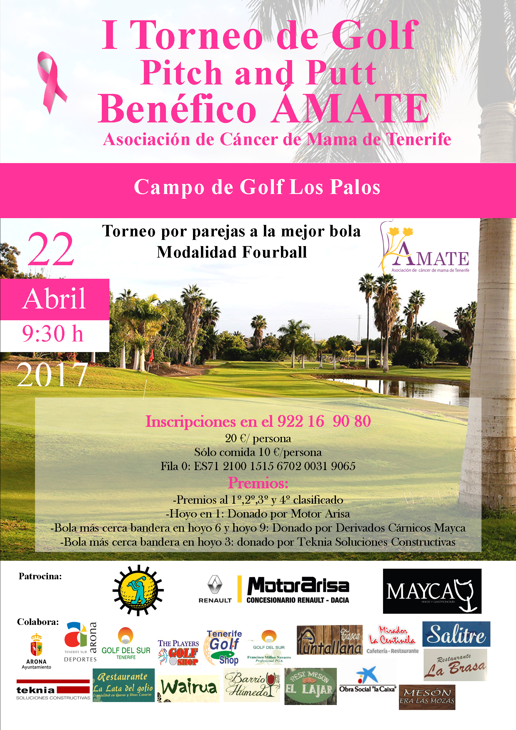 cartel AMATE GOLF